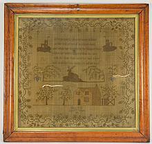 1836 Eliza Wall Needlepoint Sampler