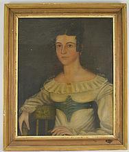 Early American Primitive Portrait