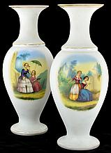 Victorian Bristol Glass Vases