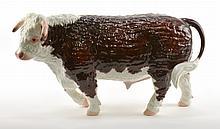 Rare Boehm Porcelain Hereford Cow