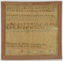 Elizabeth Weber 1820 Sampler