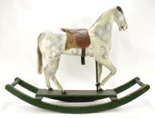 Victorian Wooden Rocking Horse