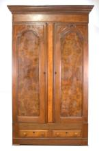 Walnut Victorian Wardrobe