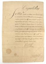 King Louis XIV French Document