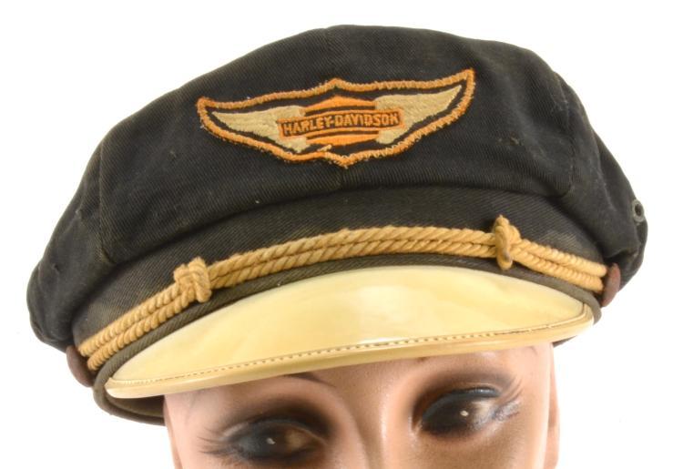 Antique Advertising | Vintage Harley Davidson Hat ...  |Vintage Harley Davidson Hats