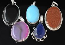 5 Pendants Wholesale Lot Costume Fashion Jewelry