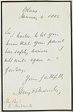 THE CHURCH OF ENGLAND.  THE ALBUM OF AUTOGRAPH LETTERS SIGNED ADDRESSE