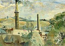 †RONALD OSSORY DUNLOP, RA (1894-1973) CORNISH TIN MINES   signed, oil