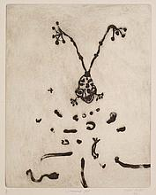 JOHN OLSEN born 1928 Laughing Frog 1977 etching