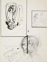 BRETT WHITELEY (1939-1992) Pablina 1974 ink and