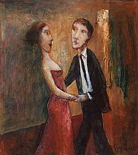 GARRY SHEAD born 1942 Dancers (Red Dress) 2000 oil
