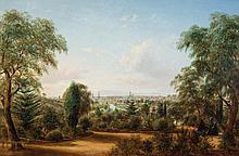 HENRY GRITTEN (c1818-1873) View of Melbourne from