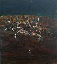 JOHN OLSEN born 1928 Fire in the Kimberley 1982