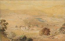 HENRY BURN (1807-1884) Valley Landscape with Farm