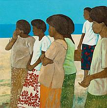 RAY CROOKE born 1922 Arrival Toberua oil on canvas