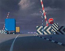 JEFFREY SMART (1921-2013) Level Crossing 1997 oil