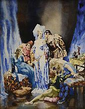 NORMAN LINDSAY (1879-1969) Nude Frolic oil on