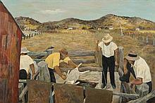 RAY CROOKE born 1922 The Sheep Dip 1959 oil on