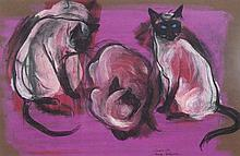 WILLIAM ROBINSON born 1936 Siamese Cat c1969