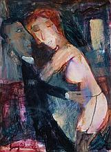 GARRY SHEAD born 1942 Untitled (Lovers) c2000 oil