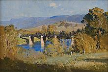 ARTHUR STREETON (1867-1943) Bridge in New Norfolk,