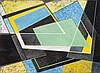 FRANK HINDER (1906-1992) Black/Yellow 1972 mixed