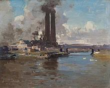 PENLEIGH BOYD (1890-1923) The Iron Bridge oil on