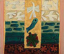 LEONARD FRENCH born 1928, Creation of Turtles, Fish and Birds