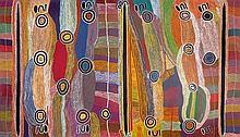 MAGGIE WATSON NAPANGARDI (1921-2004) Warlpiri language group Digging Stick Dreaming 1995