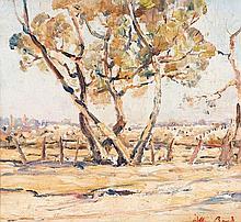 ARTHUR BOYD (1920-1999) Trees and Rosebud Landscape c1937