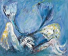 ARTHUR BOYD (1920-1999) Blue Nebuchadnezzar c1970