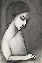 ROBERT DICKERSON born 1924 Pensive Girl
