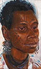 MARGARET OLLEY (1923-2011) Woman from Angoram Sepik River 1968