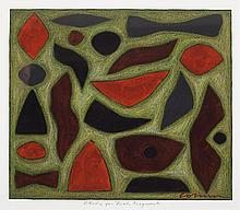 JOHN COBURN (1925-2006) Study for Bush Fragments