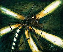 PRO HART (1928-2006) Green Dragonfly
