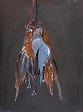 ARTHUR BOYD (1920-1999) Two Pheasants and a Pigeon 1990