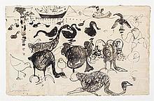 JOHN PERCEVAL (1923-2000) Black Swans at Williamstown 1957