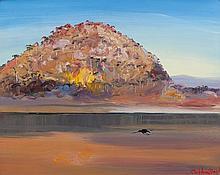 ARTHUR BOYD (1920-1999) Riversdale Hill with Single Blackbird