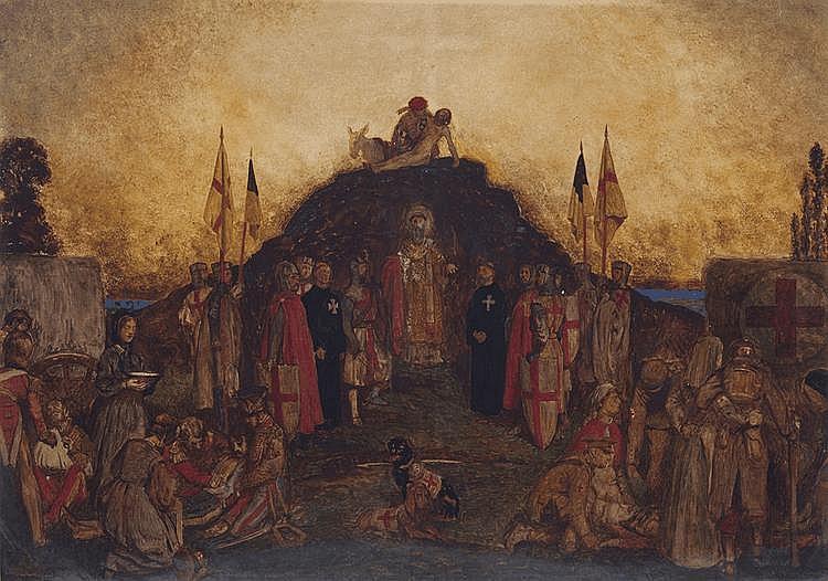 JOHN BYAM SHAW (1872-1919, British) Homage to the Red Cross: Inter Arma Caritas