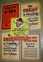 5 WWII posters Warning from the FBI, The Enemy is
