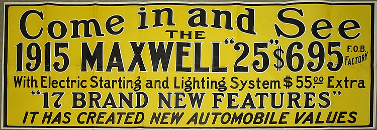 Come and See the 1915 Maxwell