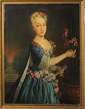 Antoine Pesne (Prussian 1683-1757) o/c Portrait of
