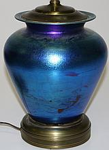 signed Victor Durand American art glass