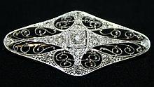 Platinum and multidiamond reticulated Edwardian