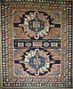 Kazak double eagle area rug, 5' 2