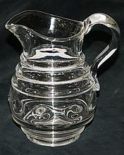 Early American blown glass bullseye and ribbed