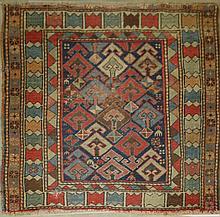 N. Persian area rug, 2' 11