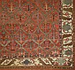 19th c Heriz or Bidjar main carpet w/ interesting Serapi- like border 7' 6