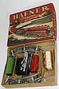 Hafner tin litho wind up train set, near mint w/