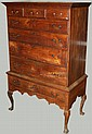 Philadelphia Queen Anne walnut drake foot highboy